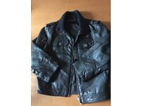 Boys Next Leather Style Jacket, Black, Age 4 Years, Brand New unworn