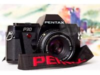 Pentax P30 and 50mm & 28mm lenses
