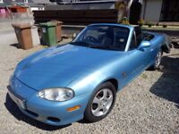 Mazda MX5 recent new hood and hardtop and timing belt
