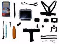 Full HD 1080p Sports Camera 1.5 - inch screen plus all attachments & Spy- pen