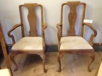 Set of Six Oak French Dining Chairs