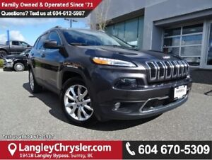 2015 Jeep Cherokee Limited W/BLUETOOTH & HEATED  LEATHER UPHO...