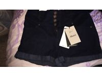Girls new look shorts new with tags