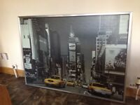 Very Large New York Framed Picture
