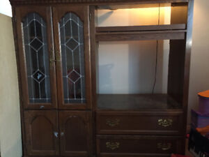 Free solid wood entertainment unit