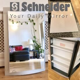 Schneider Quadraline, Mirrored Bathroom Cabinet, RRP: £500+, High Quality & Immaculate Condition!