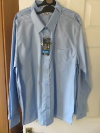 Blue School Long Sleeve Shirts age 16 years