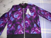 Girls tie dye bomber jacket
