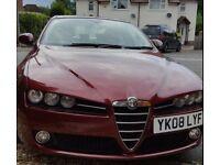 Alfa Romeo 159 2.4 Lusso with sunroof 37,500 miles