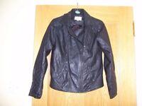Ladies PU Fashion Biker Jacket
