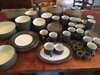 Denby chevron crockery set