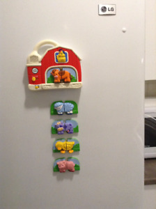 Leap Frog Fridge Magnetic Farm Animals with Sounds and Music