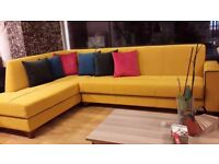 SOFA CORNER SOFA BED WITH STORAGE ***£499***