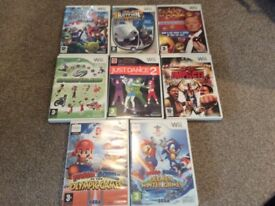 SELECTION OF WII FIT GAMES