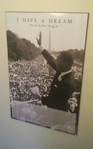 Wood laminated poster of Martin Luther King Jr