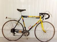 Team Banana Raleigh Steel road bike 58 cm Seat tube 10 speed Friction Original Serviced
