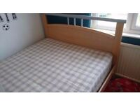 Double bed with mattress can deliver