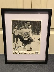 Montreal Canadiens Jacques Laperriere signed and framed photo