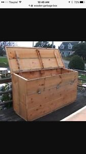 WANTED: Wooden Garbage Bin