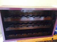 Industrial Wine Rack vintage antique barn find