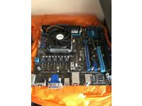 Computer parts - AMD CPU, Motherboard, 4GB RAM, R250X and Wifi card.
