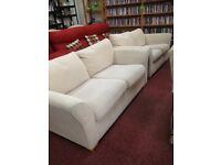Cream coloured Soft Plushy suite (3+ 2 seaters)