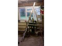Five tread metal step ladder
