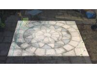 Garden/Driveway stone slabs, decorative circle 3.6m sq.