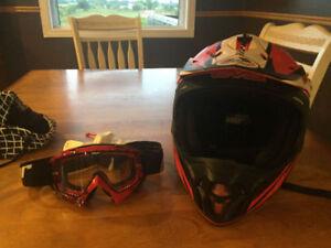 EVS VORTEX T7 CROSSFADE Motocross Helmet and Thor goggles