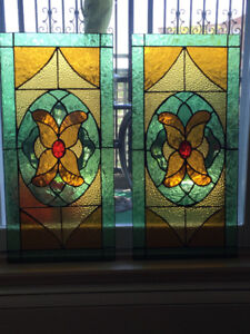 """Stained Glass Panels 13.25"""" Wide 27.25"""" Long"""
