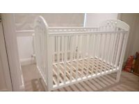 John Lewis Elena Playbed Cot - White - Excellent Condition