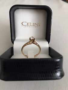 .25 ct. diamond solitaire 14k gold ring