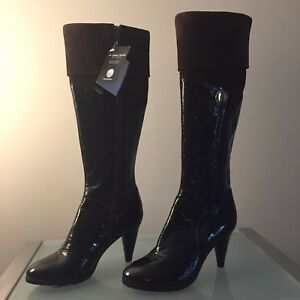 Brand new Andrea Morelli genuine leather & suede boots