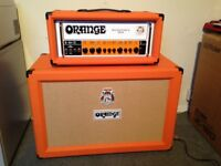 Orange Rockerverb 50 MK111 Head and PPC 2 x 12 Closed Back Cabinet with Covers