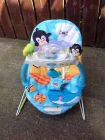 Baby bouncer chair , fisher price , musical , vibrating , soothing relaxer