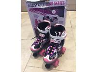 Quad skates adjustable size 1-3 hardly worn
