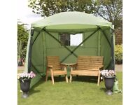 NEW BOXED Spring Up Instant quick pop up 4 Sided (with 4 side panels/covers) Summer House Gazebo