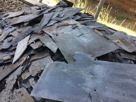 Broken roof slates