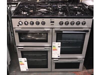 New Flavel 100cm dual fuel range cooker comes with warranty and we also deliver /