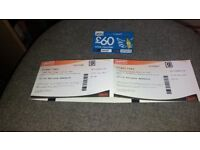 Two Sheffield Tramline Tickets