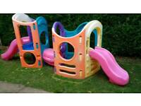 Little tikes 8 in 1 climbing frame with sides