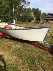 Wanted:stainless steel boat trailer for a  PEI oyster dory