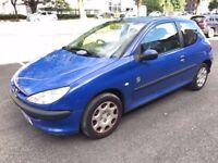 2004 (Sep 54) PEUGEOT 206 INDEPENDENCE 1.1 - Ha 3 Dr - Petrol - Manual - BLUE *LONG MOT/1 OWNER/FSH*