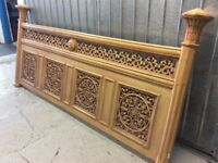 Beautiful carved king size bed