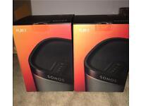2x Brand New Sealed - Sonos black Play 1s Speakers RRP £398