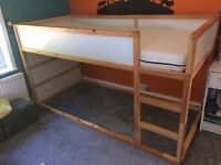 children's IKEA cabin bed with mattress