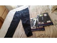 work trousers 3 pairs 38waist 31leg navy combat trousers BNIP