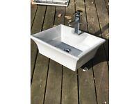 designer sink with tap