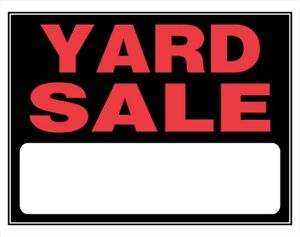 CANCELLED !!!!!!  Yard Sale Aug 19th 9-1pm