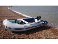 honda honwave boat 4 mtr,suzuki 6 hrp.engene for sale